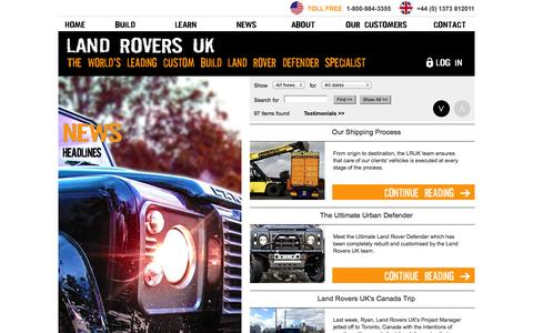 Screenshot of Press Page landroversuk.co.uk - Landrovers UK - Land Rovers, Range Rovers, 4x4 Vehicles for Sale - captured Oct. 28, 2014