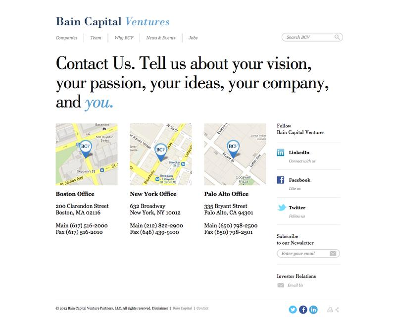 Bain Capital Ventures | Competitive Intelligence and