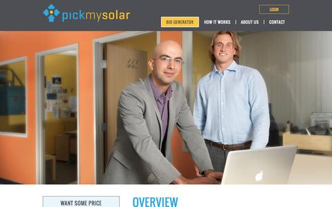 Screenshot of About Page pickmysolar.com - Pick My Solar | Behind the Bids – About Our Solar Solutions & Bidding Process - captured Nov. 2, 2014