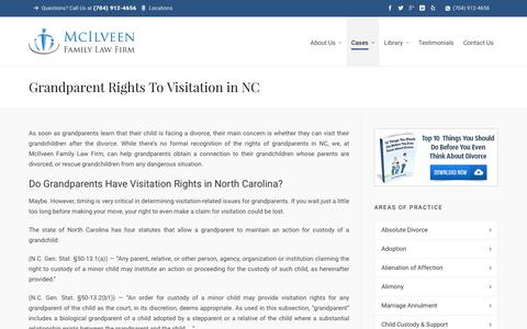 Grandparent Rights Child Custody and Visitation in North Carolina | Charlotte NC Divorce Lawyer & Family Law Attorneys - McIlveen Family Law