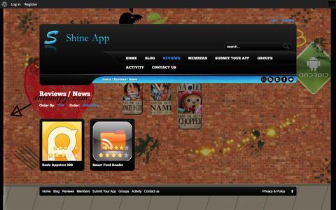 Screenshot of Press Page shineapp.com - ShineApp |   Review Categories  News - captured Feb. 19, 2016