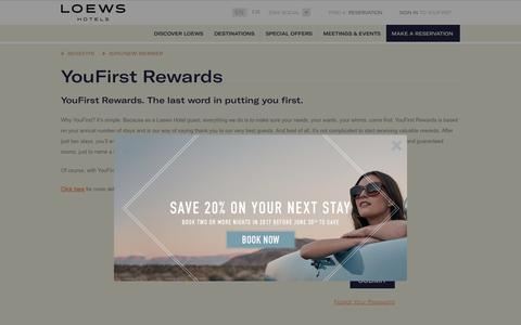 YouFirst | Loyalty Program | Loews Hotels