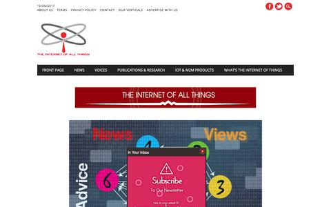 Screenshot of Home Page theinternetofallthings.com - The Internet Of Things | The Internet Of All Things | Home Page - captured June 15, 2017