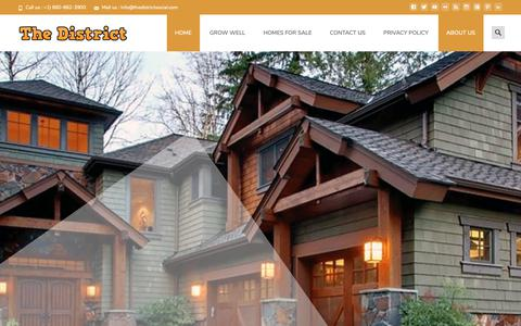 Screenshot of Home Page thedistrictsocial.com - - Homes For Sale In Parker - captured Nov. 18, 2018