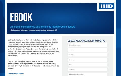 Screenshot of Landing Page hidglobal.com - HID Global-Libro Digital-Acceso Movil - captured Sept. 11, 2018