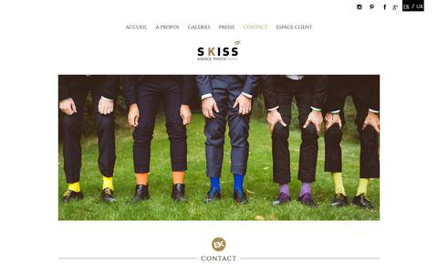 Screenshot of Contact Page skiss.fr - SKISS | Agence photo Paris - captured Nov. 12, 2018