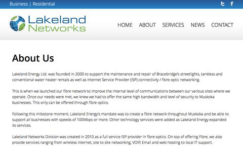 Screenshot of About Page lakelandnetworks.com - Untitled page - captured Dec. 7, 2015