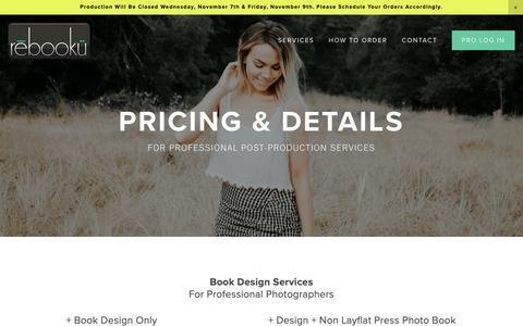 Screenshot of Pricing Page rebooku.com - Pricing — Rebooku - captured Nov. 2, 2018