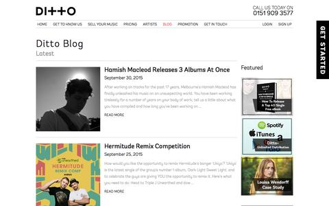 Ditto Music Blog | News, advice & tips for marketing your music