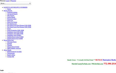 Screenshot of Login Page randygreen.net - User Login    Randy Green-Remax Masterpiece Realty Port Saint Lucie - captured Dec. 2, 2016