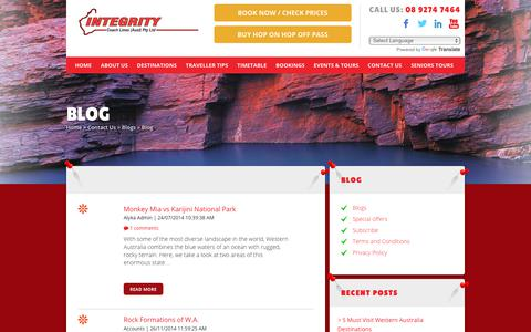 Screenshot of Blog integritycoachlines.com.au - Travel & Backpacking Blog | Coach Day Tours - Integrity Coach Lines - captured Oct. 22, 2018