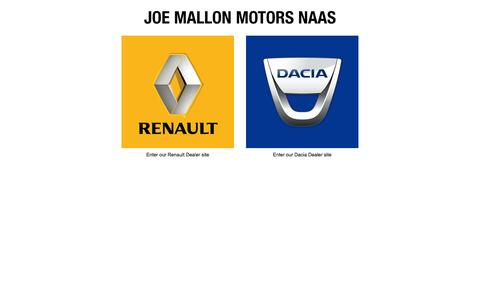 Screenshot of Home Page joemallonmotors.ie - Renault Dealer Naas - Joe Mallon Motors Naas - captured Oct. 6, 2014