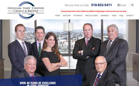 Screenshot of Home Page giccb.com - Oakland Personal Injury Lawyers | Employment Law Attorneys - captured Sept. 30, 2018