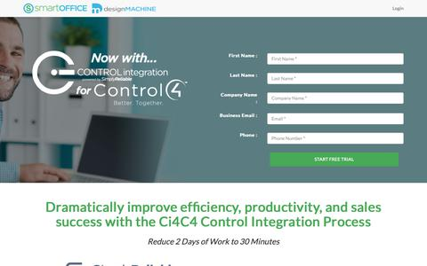 Screenshot of Signup Page simplyreliable.com - Control4 Dealers Start Free Ci4C4 Trial - captured Oct. 20, 2018