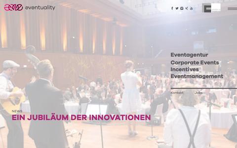 Screenshot of Press Page eventuality.de - News - Jubiläum der Innovation - captured June 11, 2018