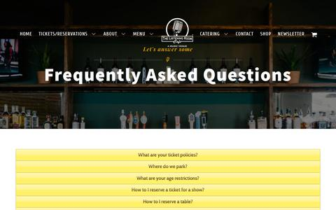 Screenshot of FAQ Page listeningroomcafe.com - FAQ | The Listening Room Cafe - captured Oct. 20, 2018