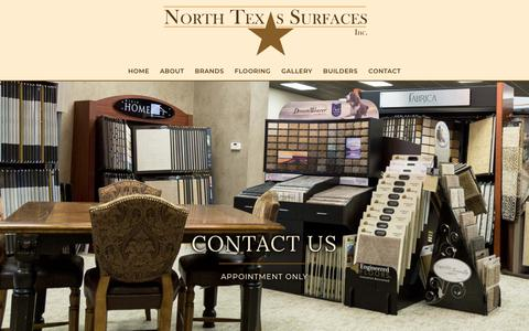 Screenshot of Contact Page northtexassurfaces.com - Contact - North Texas Surfaces Inc. - captured Oct. 19, 2018