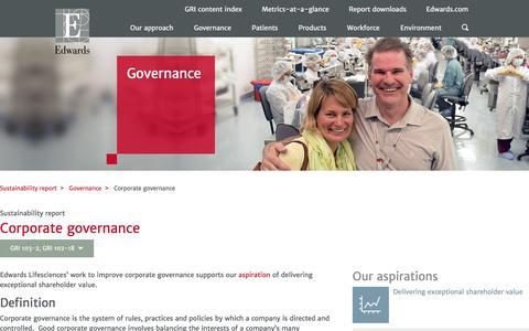 Corporate governance – Edwards – Sustainability