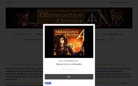 Screenshot of Home Page alternative-armies.com - Alternative Armies Online - captured March 4, 2017
