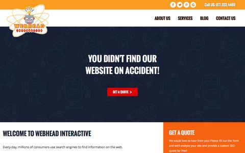 Screenshot of Home Page webheadinteractive.com - Tampa SEO Company | Web Marketing & Social Media Services | Webhead Interactive - captured Nov. 15, 2017