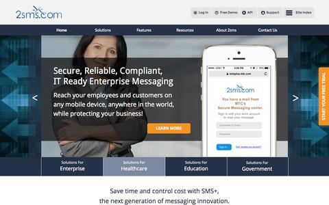 Screenshot of Developers Page 2sms.com - 2sms   Enterprise Messaging - captured Oct. 1, 2015