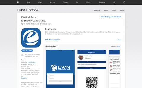 EWN Mobile on the App Store