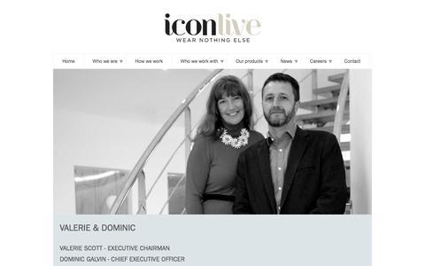 Screenshot of Team Page iconlive.com captured Feb. 10, 2016