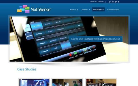 Screenshot of Case Studies Page 6smedtech.com - Case Studies  |  SixthSense MedTech - captured Oct. 4, 2014