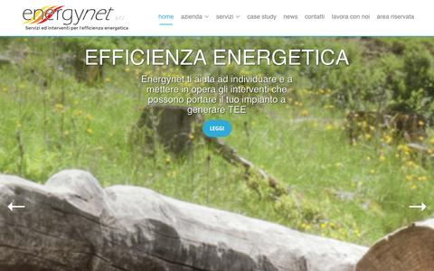 Screenshot of Home Page energynet.it - Energynet S.r.l. - Servizi ed interventi per l'efficienza energetica - captured Jan. 29, 2016