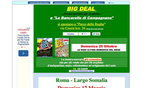 Screenshot of Home Page mostre.it - Mostre Mercatini Antiquariato Collezionismo Artigianato Arte Restauro Bancarelle - captured Oct. 13, 2015