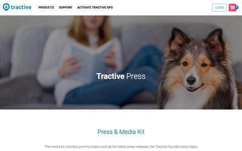Screenshot of Press Page tractive.com - Press | Tractive - captured Oct. 19, 2018