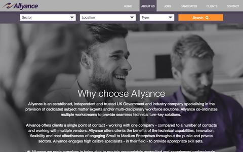 Screenshot of About Page allyance.co.uk - About Us - Allyance Recruitment - captured Oct. 3, 2018