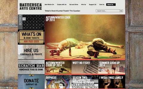 Screenshot of Press Page bac.org.uk - Press & Resources - Battersea Arts Centre - captured Oct. 5, 2014