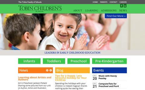 Screenshot of Home Page tobinchildrensschool.org - Front Page - Tobin Children's School - captured Dec. 19, 2016
