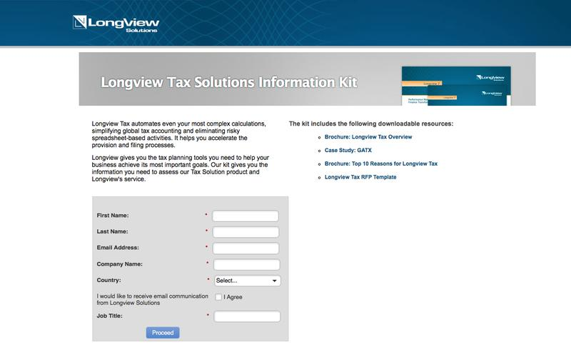 Corporate Tax Software - Information Kit - Longview Solutions