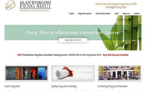 Screenshot of Home Page feng-shui-school.com - Feng Shui School of Excellence - the #1 school for successful feng shui consultants - captured June 13, 2016