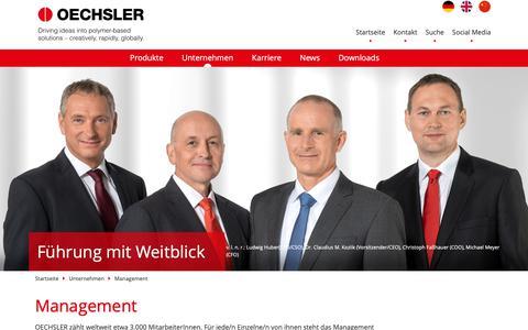 Screenshot of Team Page oechsler.com - Management–OECHSLER AG - captured Nov. 15, 2018