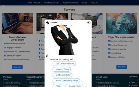 Screenshot of Services Page deepijatel.com - Call Center Solutions | Call Center Software | IVR Software | Call Center Dialer - captured July 27, 2019