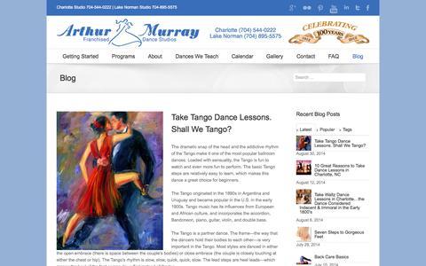 Screenshot of Blog charlottearthurmurray.com - Blog | Ballroom Dance Lessons Charlotte - Ballroom Dance Classes Charlotte - captured Oct. 4, 2014
