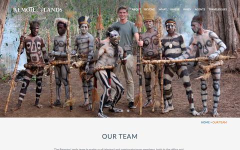Screenshot of Team Page remotelands.com - Our Team | Asia Ultra-Luxe Custom Tours | Remote Lands - captured Nov. 15, 2017