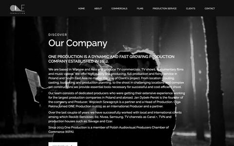 Screenshot of About Page oneproduction.pl - About – One Production - captured Oct. 19, 2018