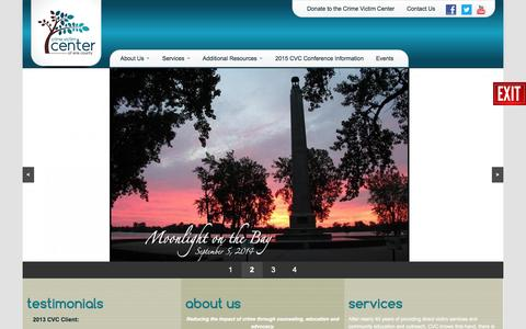 Screenshot of Home Page cvcerie.org - Crime Victim Center of Erie County   - captured Oct. 3, 2014