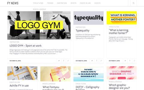 Screenshot of Blog fontyou.com - FY News - about fonts & fonts - captured Oct. 14, 2015