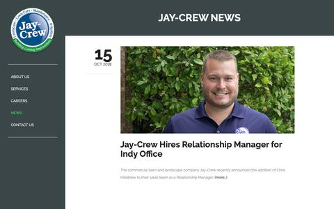 Screenshot of Press Page jaycrew.com - News – Jay-Crew - captured March 20, 2019