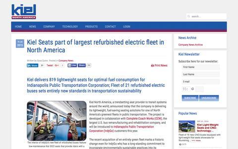 Screenshot of Press Page kielna.com - KIEL Seats North America | Kiel Seats part of largest refurbished electric fleet in North America - KIEL Seats North America - captured Feb. 12, 2016