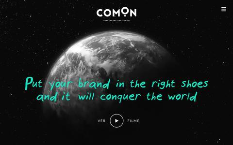 Screenshot of Home Page comon.pt - comOn - User Marketing Agency - captured Nov. 15, 2016
