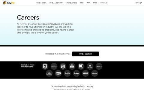 Screenshot of Jobs Page key.me - KeyMe Careers | Unlock Your Potential! - captured Jan. 21, 2019