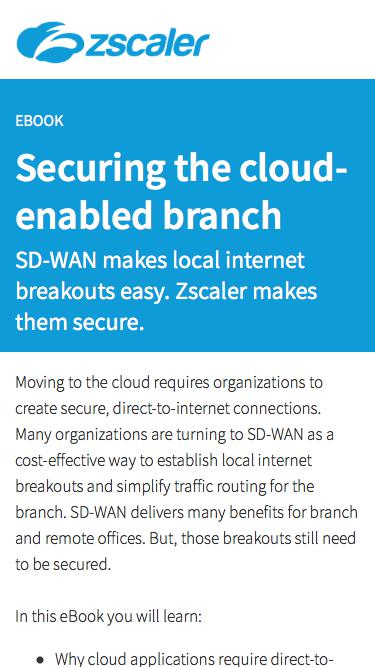 Securing the cloud-enabled branch   Zscaler