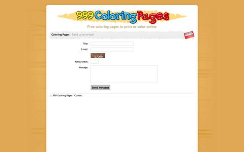 Screenshot of Contact Page 999coloringpages.com - Send us an e-mail - 999 Coloring Pages - captured Nov. 4, 2014