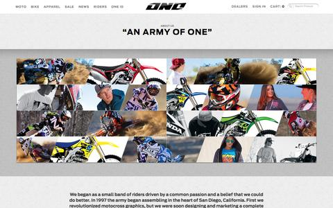 Screenshot of About Page oneindustries.com - About Us - captured Oct. 26, 2014